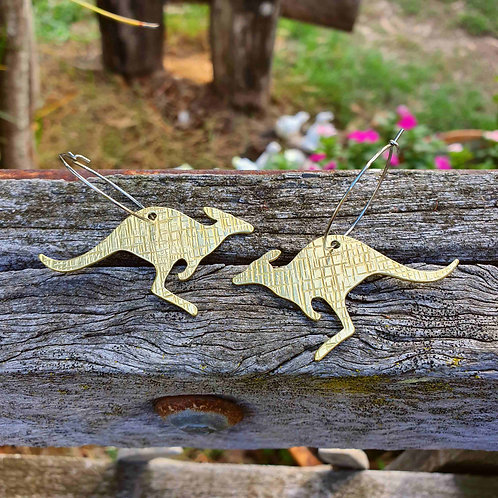Australiana - Kangaroo Earrings