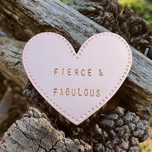 Heart Brooch - Fierce & Fabulous