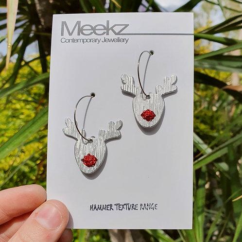 Rudolf Reindeer Hoop Earrings