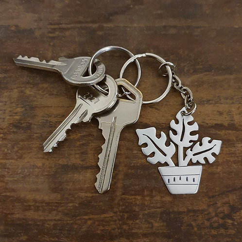 Potted Plant Key Chain - Monstera