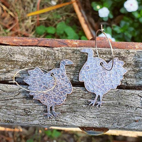 Australiana - Scrub Turkey Earrings