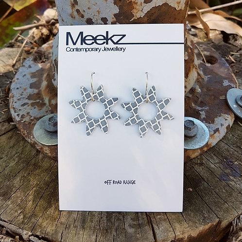 Flannel Flower Earrings