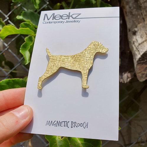 Jack Russell Dog Brooch