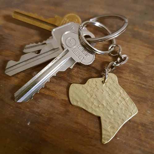 Pit Bull Head Key Chain