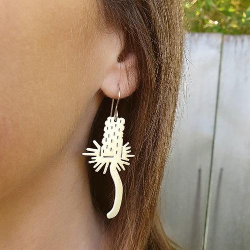 Australian Native Flower Earrings - Banksia