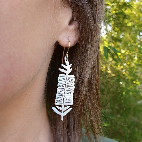 Australian Native Flower Earrings - Bottlebrush