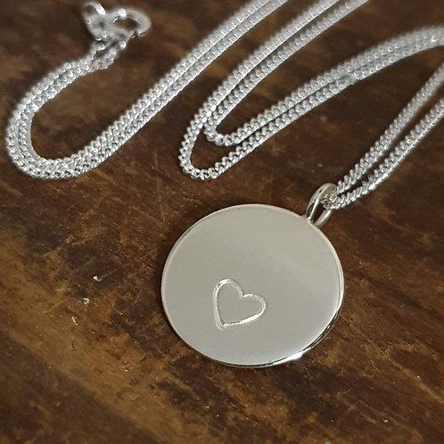 Sterling Silver Medium Round Necklace