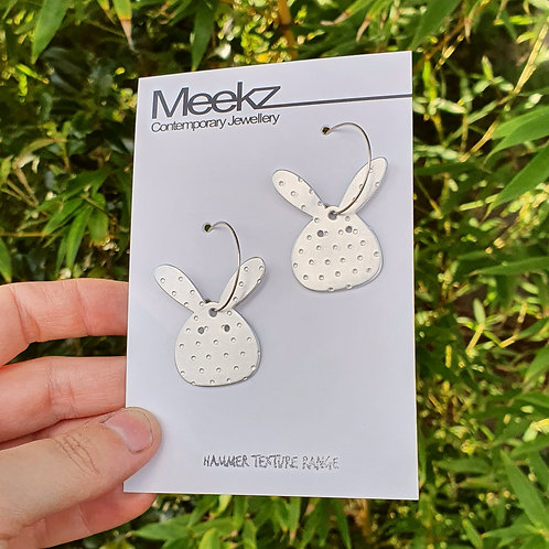 Easter Bunny Hoop Earrings