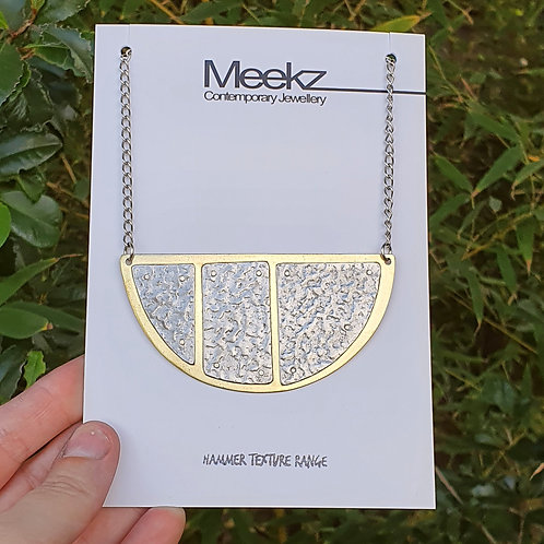 Oval 3 Panel Long Necklace