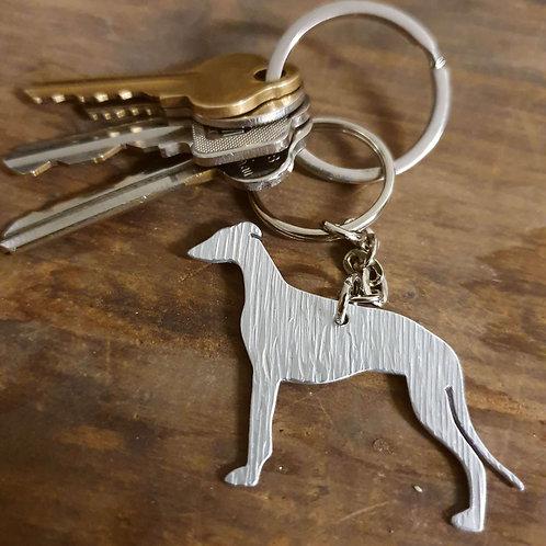 Greyhound Full Body Key Chain
