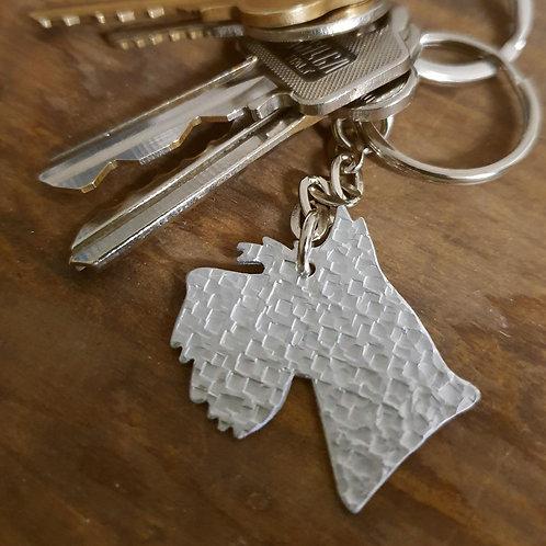 Schnauzer Head Key Chain