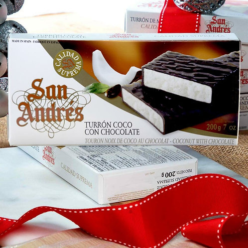 Chocolate covered Coconut Nougat by San Andres
