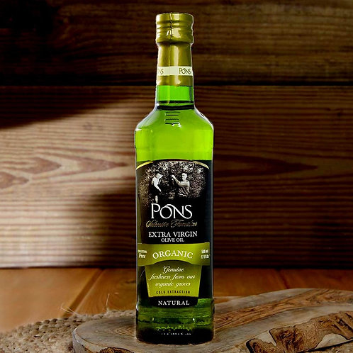 Extra Virgin Organic Olive Oil by Pons - 500ml