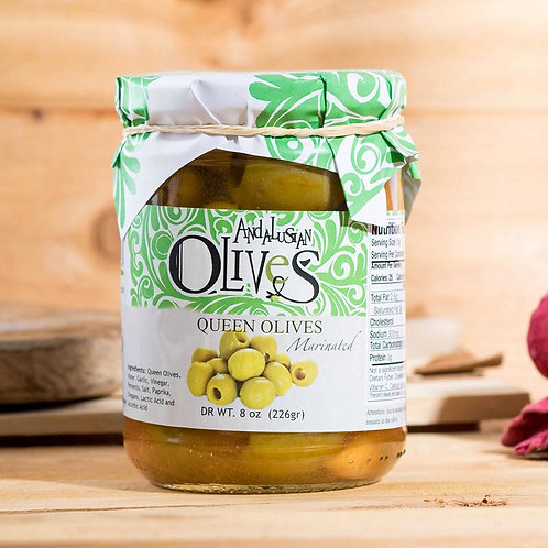 Queen Marinated Gordal Olives by Andalusian Olives