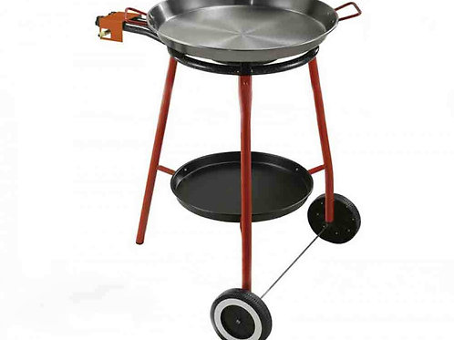 Paella Set Rolling Stand and Pan for 10 Serv.