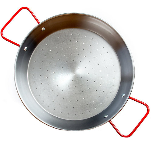 Garcima 10.5 Inch Polished Steel Paella Pan - Serves 2