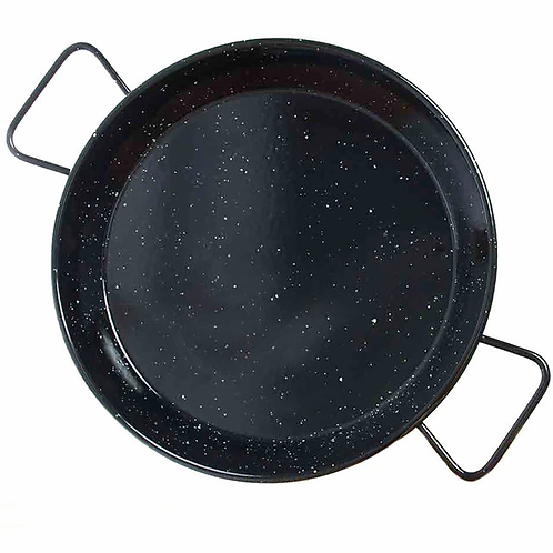 Garcima 15 Inch Enameled Paella Pan - Serves 8