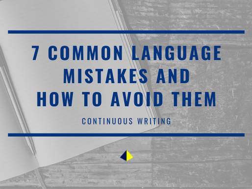 7 Common Language Mistakes and how to avoid them! [Continuous Writing]