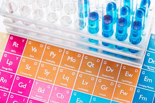 science-elements-with-chemicals-arrangem