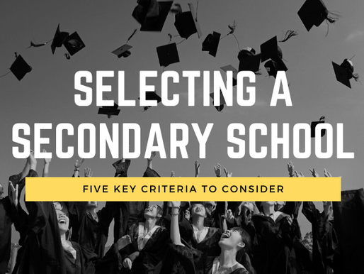 How to select the BEST secondary school for your child