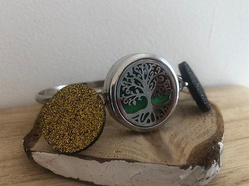 Bracelet diffuseur d'huile essentielle arbre de vie