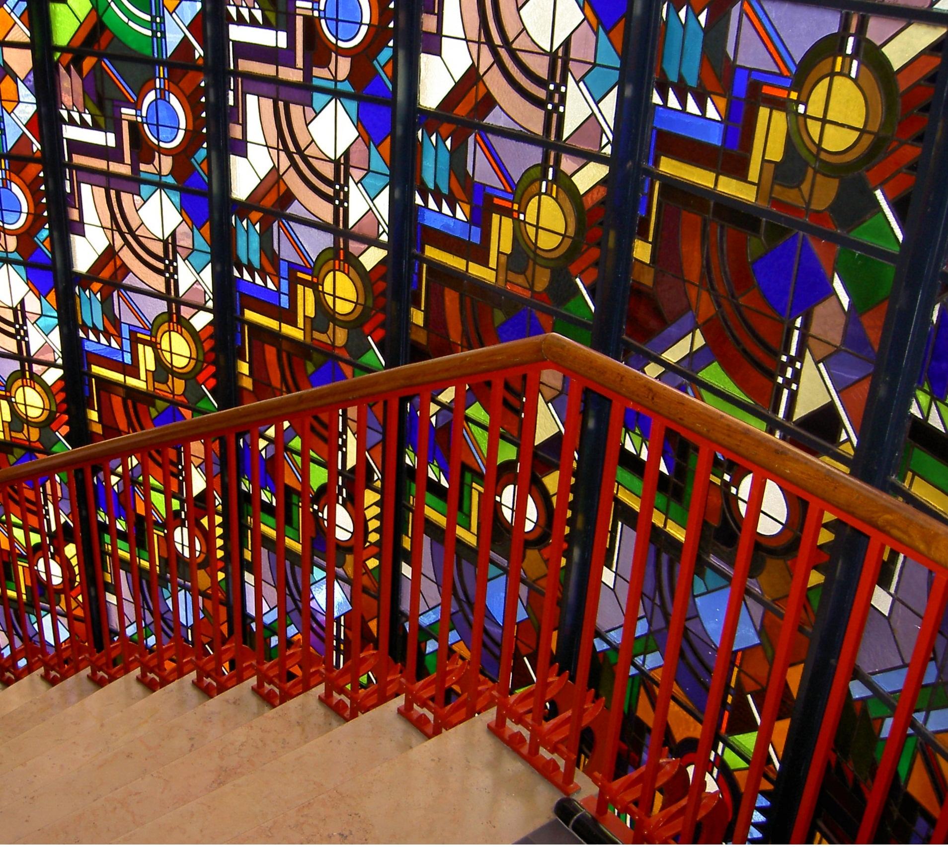 glas in lood raam gemeentewerken