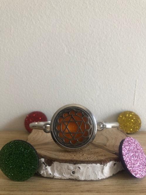 Bracelet diffuseur d'huile essentielle étoile