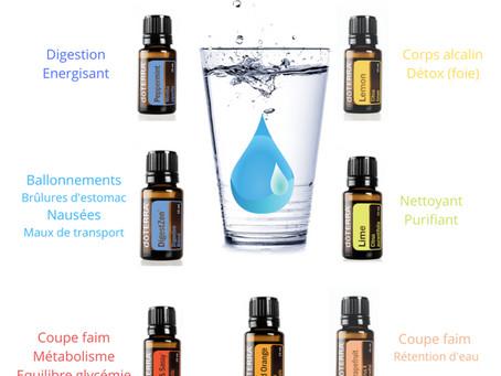 Aromatisez votre eau...avec les huiles essentielles