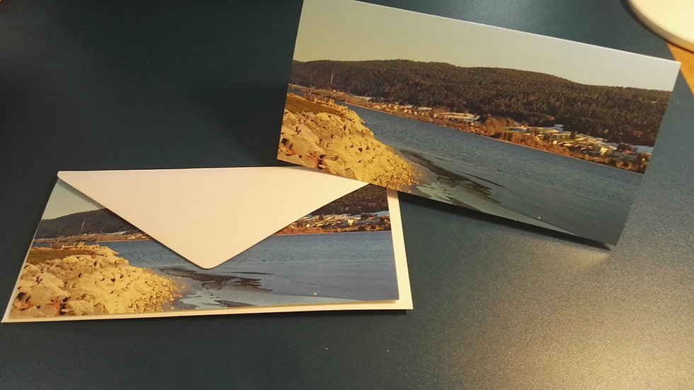 Carte postale Vallée de Joux + enveloppe