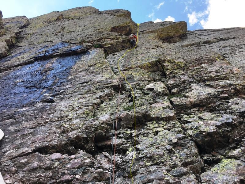 Elisha Gallegos on challenger peak