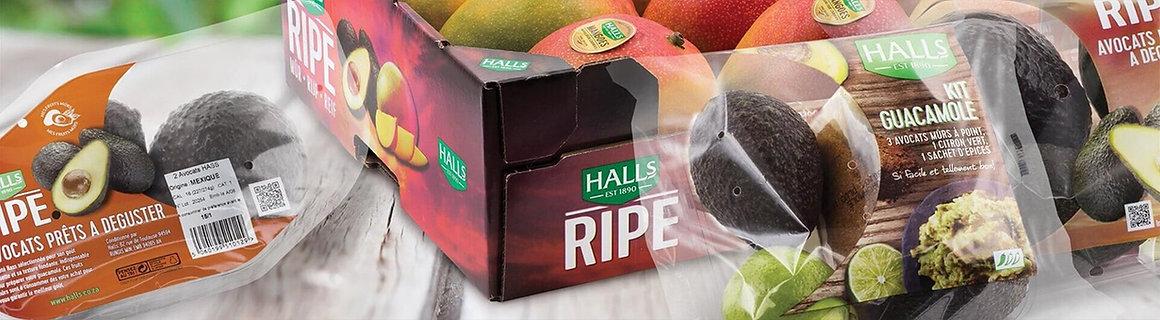 halls ripe packaging