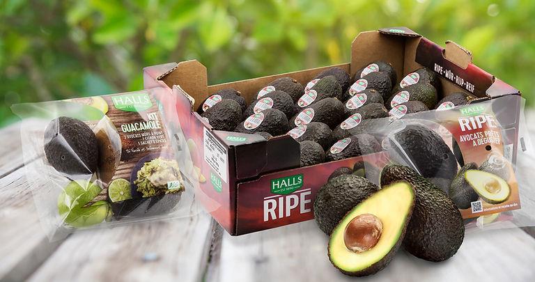 halls ripe range packaging