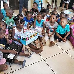 halls santa shoe box children