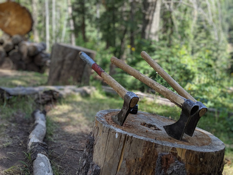 Mountain Man Tomahawks, the best thing about camping