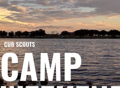 Cub Scout Camping at Dowling Aquatic Base