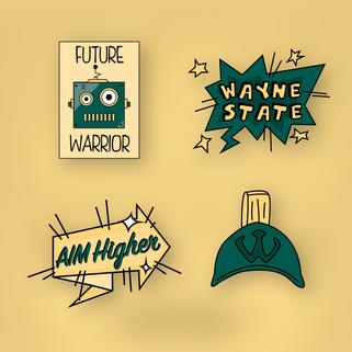 WSU Mobile Stickers