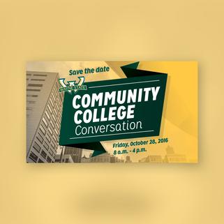 Community College Conversation Flyer