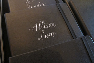 Personalized Notebooks with Modern Calligraphy