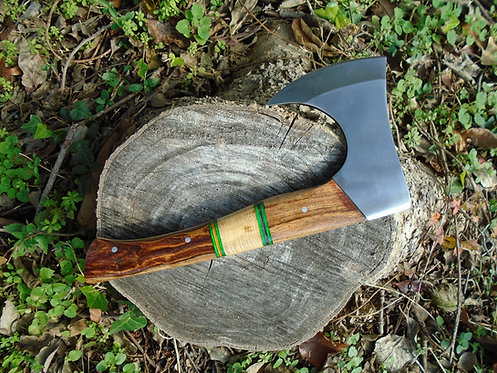 Axe | Hatchet | Handmade olive, rose wood Handle Axe with sheath