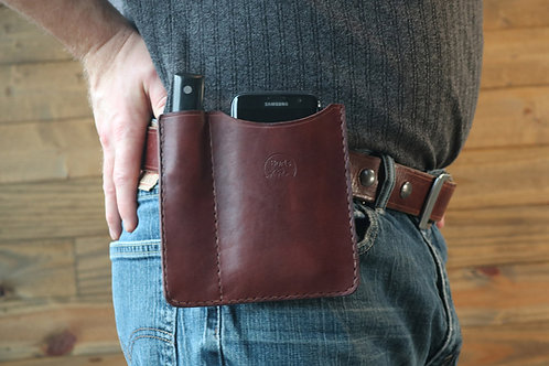 Phone Knife Wallet | Leather Sheath Phone And Card Wallet With Knife | Burls