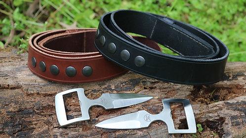 Burls Belt Buckle Knife