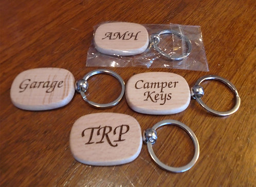 Personalized Key Rings   Customized Laser Engraved key chains (Set of 2)