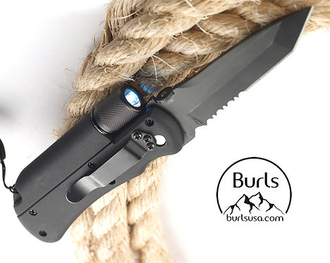 Multi-Functional Survival Knife | Flashlight | Flint Fire Starter | Whistle