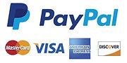 Visa, Mastercard, American Express, Paypal & Discover