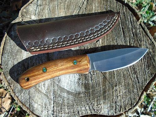 Hunting Knife | Field-Mate Knife With Wood Handle And Sheath | EDC Hip Knife