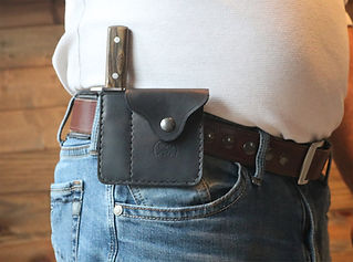 Leather Card Wallet With Sheath | Tactical Wallet