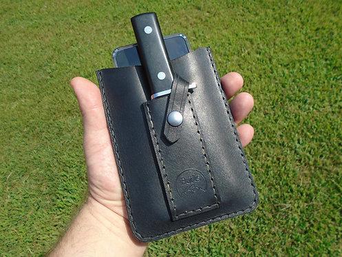 Phone Knife Case - Slim design phone case with knife sheath and belt clip