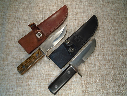 EDC Knife With Guard, Leather Sheath And Belt Clip | Burls Signature Knives