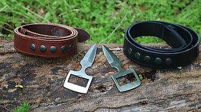 Buckle Knife Belt | Belt Knife Sheath | Bowen Style Knife Belt | Burls EDC Belt And Knife | Tactical Belt
