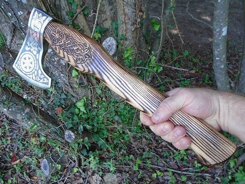 Viking Style Wood Handle Axe | Personalized Axe | Hatchet